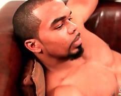 Tonned Black Guy Boxer Pleasures Himself 3